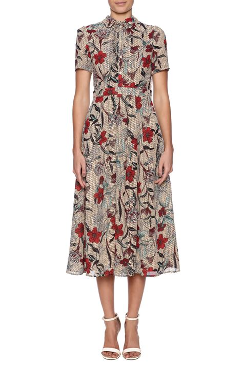 Abstrak Dress re named abstract floral midi dress from new jersey by