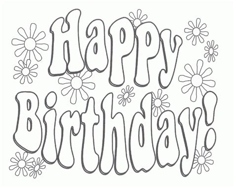 free printable birthday cards one page birthday card coloring pages az coloring pages free