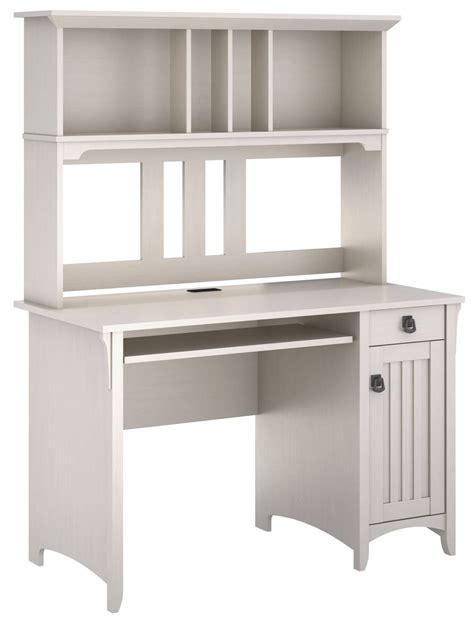 Salinas Antique White Mission Desk With Hutch From Bush Mission Style Desk With Hutch