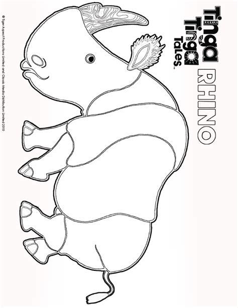 black and white picture of rhino tinga tinga tales