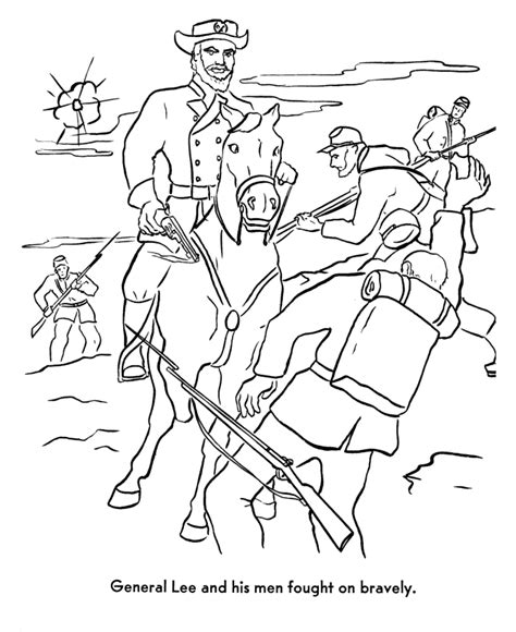 battle coloring pages usa printables america civil war coloring pages robert