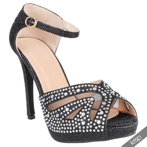 mesh high heels platform ankle mesh peep toe high heels