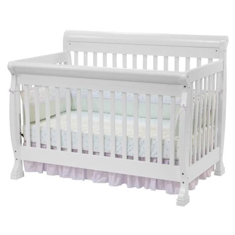 White Crib With Mattress Davinci Kalani 4 In 1 Convertible W Size Bed Rail White Crib Set Ebay
