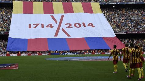 barcelona independence catalan independence supporters plan protest of uefa espn fc