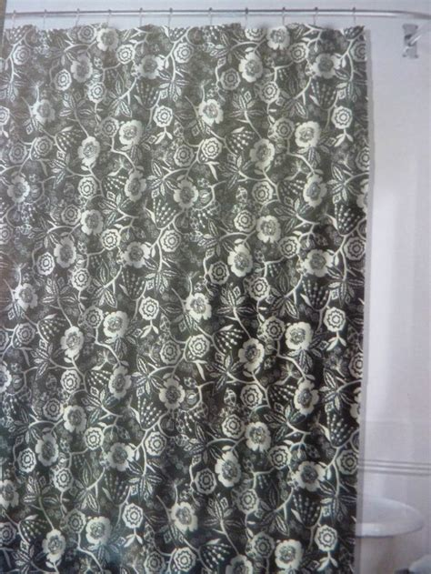 black and white floral shower curtain ralph lauren black white floral fabric shower curtain 72