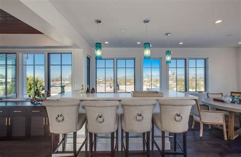 los angeles cool bar stools home beach style  house