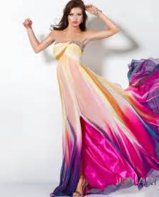 multi color prom dress 187 multi color prom dresses 4 at in seven colors colorful