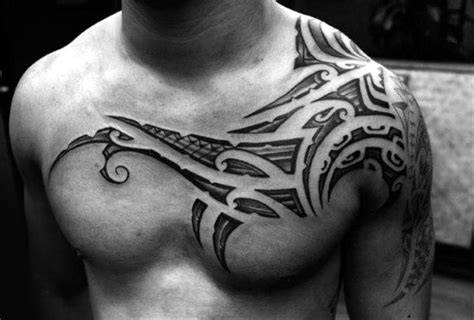 collar bone tattoos  men clavicle design ideas
