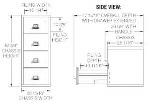 file cabinet drawer dimensions fireking 4 2125 c four drawer 25 quot vertical size