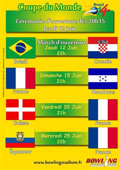 coupe du monde 2014 diffusion des matchs 171 bowling