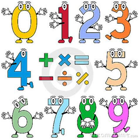 imagenes matematicas divertidas numeros para colorir