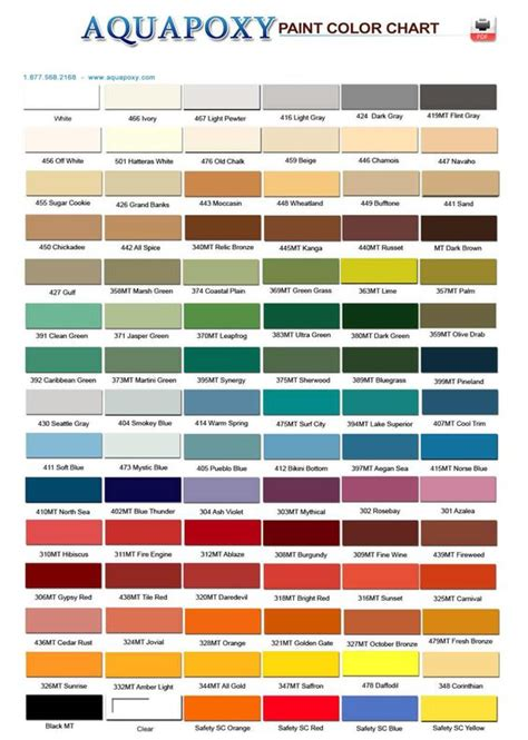 epoxy paint colors aquapoxy paint color chart can be used on laminate or