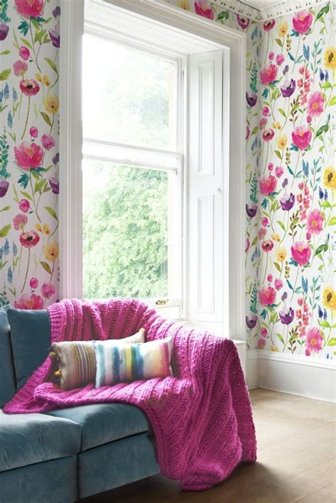 colorful wallpaper for rooms 30 stylish ways to use floral wallpaper in your home