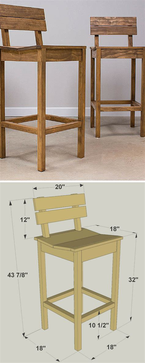 wooden bar stool plans beautiful indoor outdoor furniture crafting plans