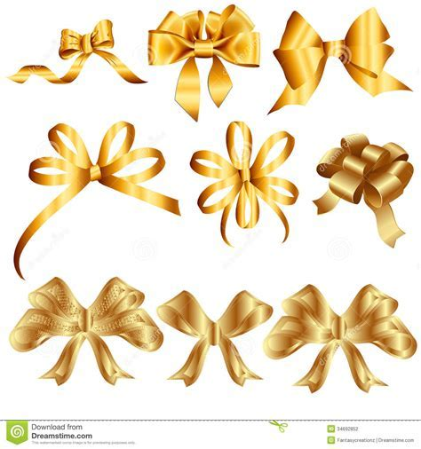 Golden Ribbons Stock Photography   Image: 34692852