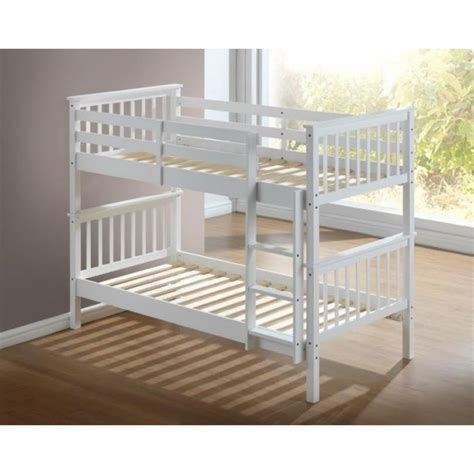 white bunk bed artisan white wooden bunk bed frame children bunk bed