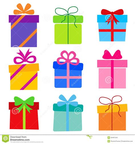imagenes vectoriales de regalos colecci 243 n del vector cajas de regalo ilustraci 243 n del