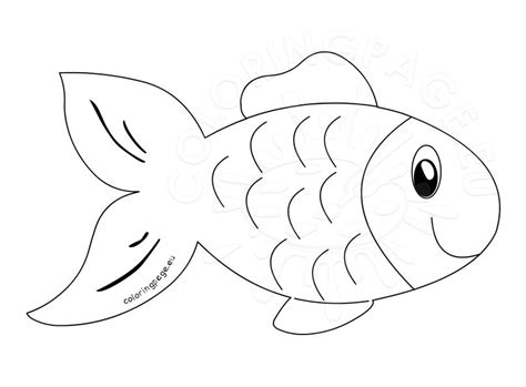 Clipart Fish Outline Cliparts Galleries Fish Outline Coloring Page