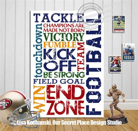 posters for boys bedrooms inspirational football decor football art by oursecretplace
