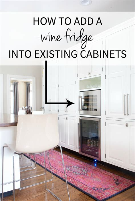 built in wine adding a built in wine fridge in the kitchen the