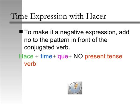 verb pattern bear time expressions with hacer