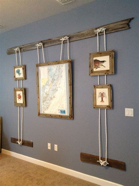 pottery barn nautical inspired wall display
