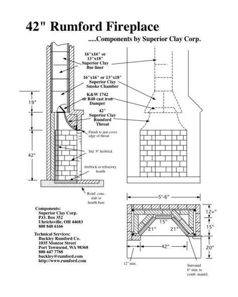 fireplace plan rumford fireplace plans instructions