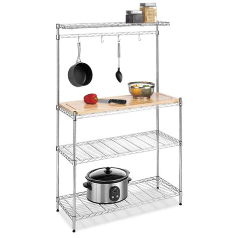 Kitchen Racks And Shelves by Kitchen Baker Rack In Kitchen Island Carts