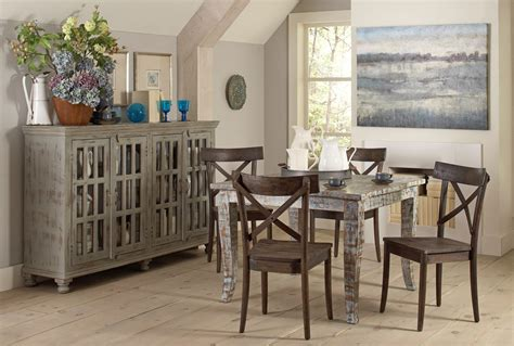 Square Dining Room Sets Artisan Painted Square Dining Room Set D373 31 Largo Furniture