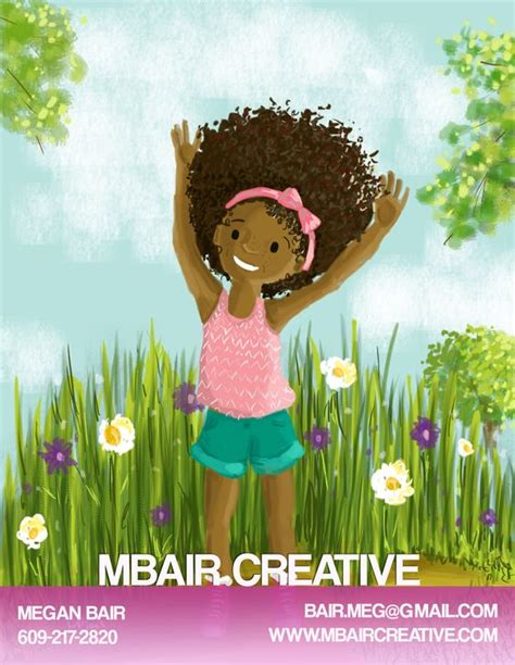 american hair style books for children s book illustration painting digital