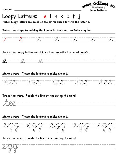 Worksheet On Cursive Writing Practice by Cursive Writing Worksheets
