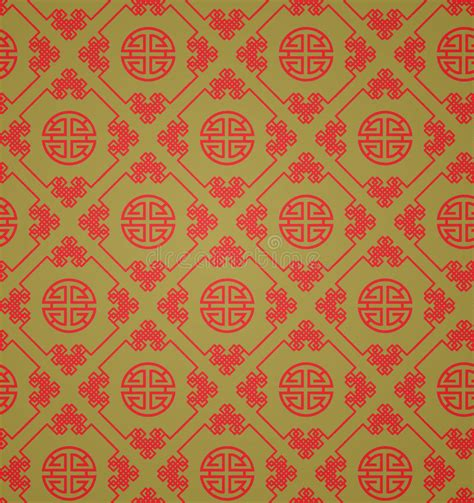 chinese gold pattern vector red and gold chinese patterns vector stock vector