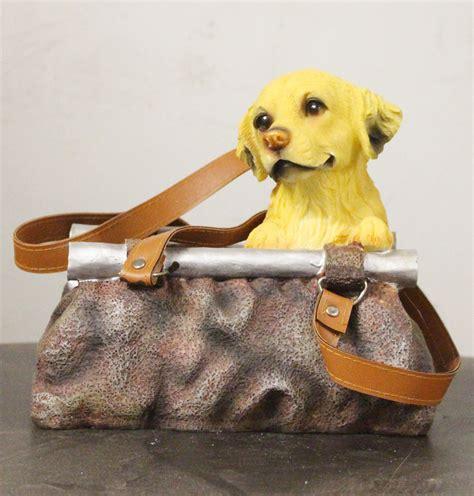 deko und garten schirrle hund in handtasche dekor garten