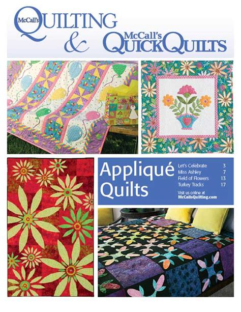 quilting applique patterns free applique quilt patterns from mccall s quilting