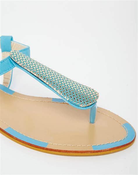 turquoise flat sandals paper dolls paper dolls turquoise toepost flat sandals