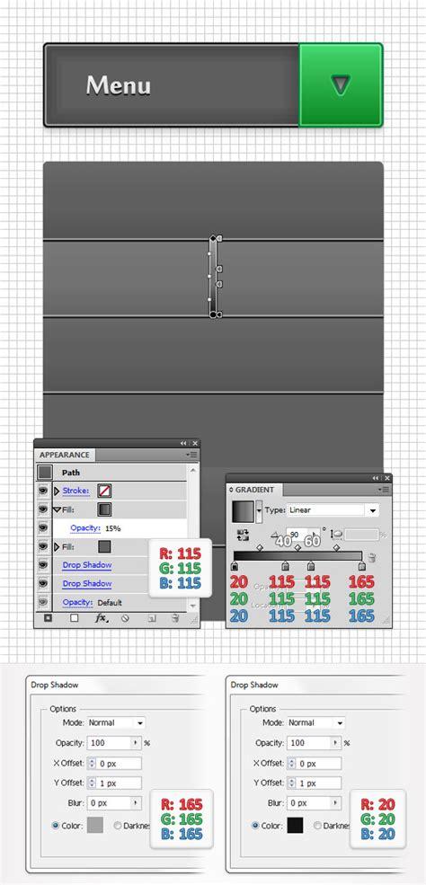 construct 2 menu tutorial adobe illustrator tutorial create a simple drop down menu