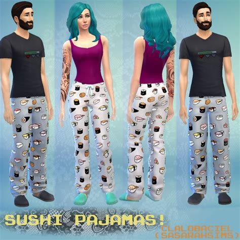 sims 4 pajamas mod the sims sushi pajama pants