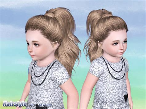 tsr kids hair skysims hair toddler 167