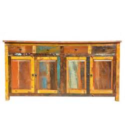 multi colored cabinets appalachian rustic multi color wood 73 quot buffet cabinet