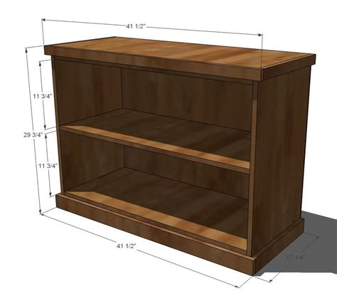 ana white build your own office wide bookcase base