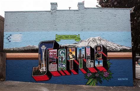 Greetings from Seattle WA Mural   Greetings Tour
