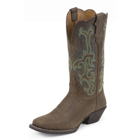 justin womans boots s justin 174 11 quot stede western boots sorrel apache