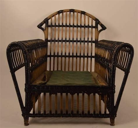Wicker Lounge Chairs Sale by Deco Wicker Lounge Chair For Sale At 1stdibs