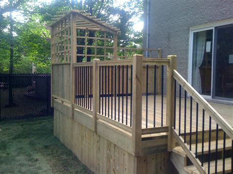 Patio L by Patios Plain Pied Patio Bois Trait 233
