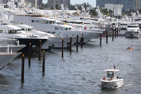 fort lauderdale boat show results fort lauderdale boat show sales quot way up quot this year sun