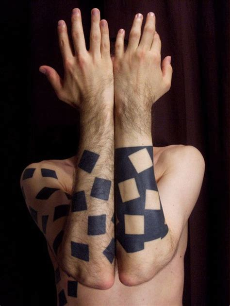 black square tattoo geometric images designs