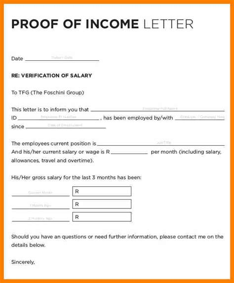 Proof Of Hire Letter Sle Income Verification Letter Child Support Proof Of Income Letter Proof Of Income Letter