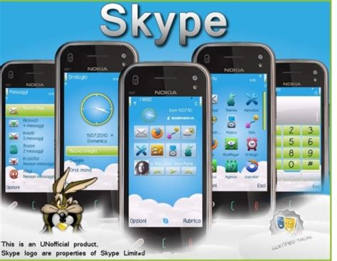nokia themes vijay skype theme symbian s60 3rd and 5th edition freeware downloads