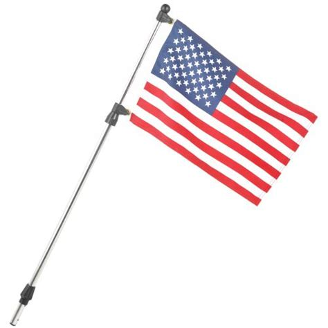 boat light flag pole seasense 174 telescoping flagpole with 12 quot x 18 quot us flag