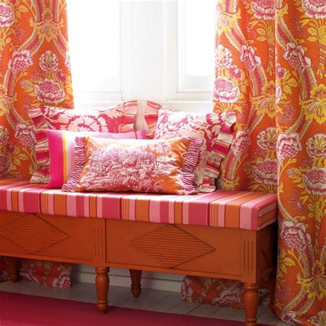 Orange Patterned Curtains Bold Patterned Curtains Patterned Rooms Housetohome Co Uk